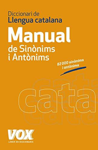 Diccionari Manual de Sinònims i Antònims de la Llengua Catalana (Diccionarios En Catalan)