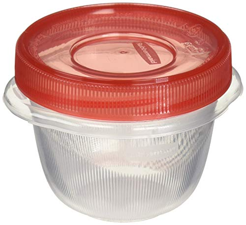 Rubbermaid Takealongs Twist and Seal Food Storage Containers, 1.2 Set of 4 (2-Pack of 4), Clear