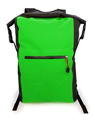 MyGadget Bolsa Estanca 25L - Bolsa Impermeable - Dry Bag Protección Waterproof Mochila para Viajes y Deportes cómoKayak,Surf - Verde