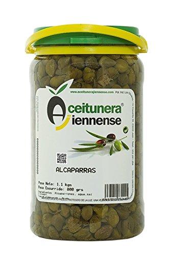 Alcaparras | Encurtidos Jaén | Aceitunera Jiennense | Bote 1,1 Kgs (Peso Neto )