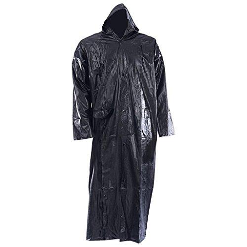 Zacharias Women rain Coat (Pack of 1) Black