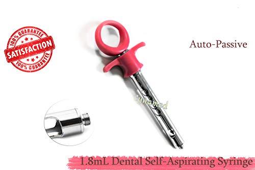 1 Each - ANESTHETIC Dental Syringe 1.8mL ONE Ring German Grade Dental Instrument (CYNAMED)