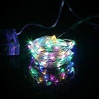 丈夫で安全な複数のUSESCAR装飾ライト LED銀銅線列3xAAバッテリーは、ホリデーパーティー結婚式の装飾用防水妖精のLEDクリスマスライトを運営しました (Emitting Color : Multicolor, Wattage : 3m 30led silver)