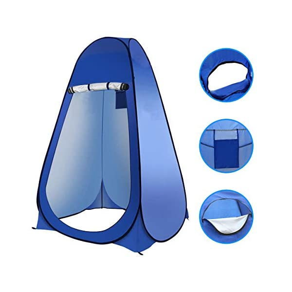 Laelr Pop up Toilet Tent, 4 Pack Shower Privacy Toilet Changing Room Changing Tent Foldable & Portable Beach Dressing… 1