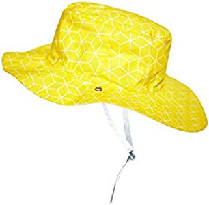 Ki ET LA - Gorro anti-UV upf 50 + – Modelo Cubik Sun reversible - 100% algodón Oeko-tex - 12-18 meses