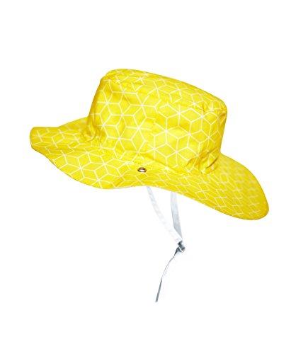 Ki ET LA – Sonnenhut für Babys, Kleinkinder und Kinder – UPF 50+ – Beidseitig mit Muster Cubik Sun – 100% Oeko-Tex-Baumwolle - 2–4 Jahre