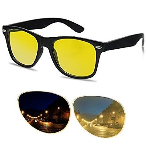 Gafas de sol de conducción con lentes amarillas, ultra HD, UV 400, antirreflectantes, para invierno, bajo sol, noche, coche, con filtro amarillo
