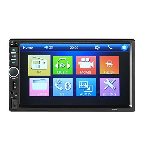 Dvd-speler dubbele DIN autoradio met navigatie, 7 inch 2 din radio Andoid / 32 GB GPS/Mirrorlinks/RDS Radio/Tuner/Bluetooth/USB/handsfree installatie/TF/FM/AM/AUX/ondersteuning stuurwielcontroller 1080P, geen GPS