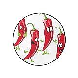 WDDHOME Wohnwagen Zubehör Cartoon Funny Chili Pepper Reifenabdeckung Modische tragbare staubdichte Anhänger Radkappen Fit für Jeep...