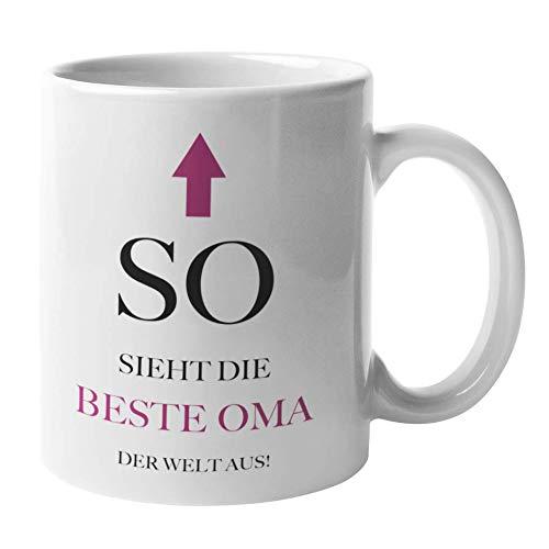 Shirtinator Tasse Geschenk für Oma I So Sieht Die Beste Oma Der Welt Aus I Geburtstag Geschenkidee-n für Oma Muttertag