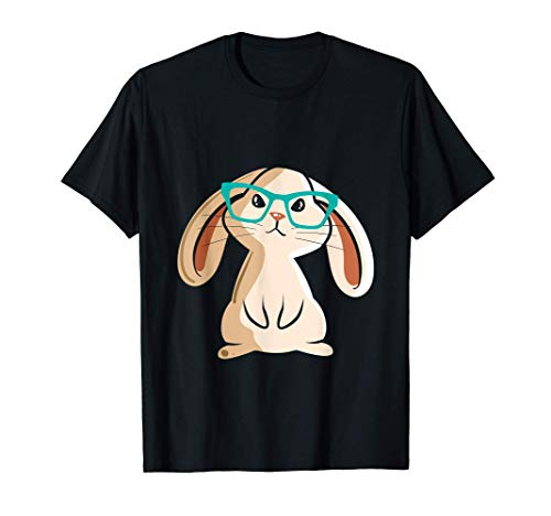 Conejo con gafas I Conejo I Conejo lindo Camiseta