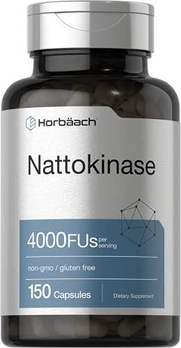 Nattokinase Supplement 4000 FU | 150 Capsules | Non-GMO, Gluten Free | Supports Cardiovascular and Circulatory Health | by Horbaach