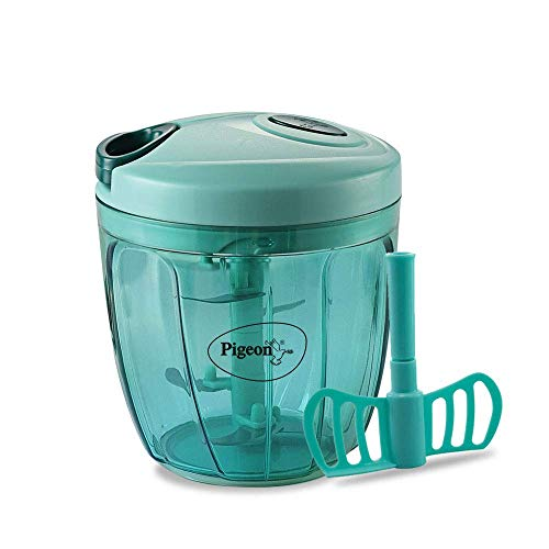 Pigeon Handy Chopper XL (900 ML) for Chopping, Mincing and Whisking with 5 Stainless Steel Blades and 1 Plastic Whisker (14077)
