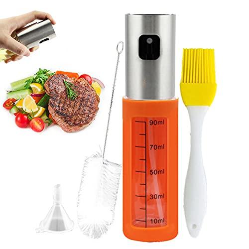 Akatsuki Dispensador de Aceite, Pulverizadores de Aceite con funda de silicona para Cocina Aceiteras para cocina, Barbacoa, Asar, Hornea,BBQ