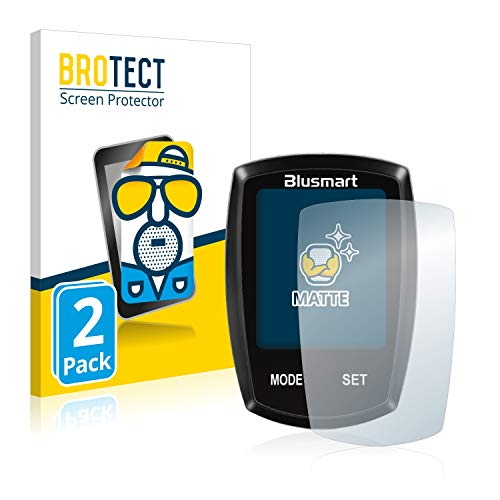 BROTECT 2X Entspiegelungs-Schutzfolie kompatibel mit Blusmart Fahrradcomputer 1.8