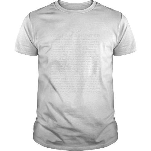 Yes I Am A Hunter - Camiseta de caza, color negro