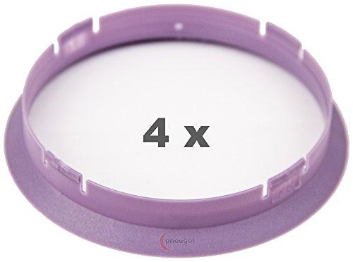 4 x pneugo! Bagues de centrage pour jantes alu 74.1 mm - 72.6 mm