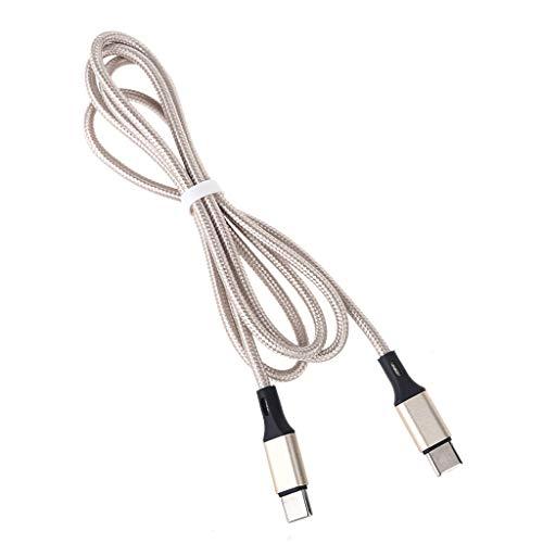 William-Lee Cable de carga tipo C a USB C para teléfono móvil y tableta.