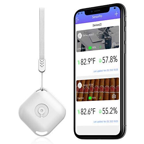 TAOPE Termómetro Higrómetro Inalámbrico Bluetooth, Sensor de Humedad de Temperatura con Exportación de Almacenamiento de Datos con Android iPhone para Habitación, Garaje, Invernadero, Bodega y Sótano
