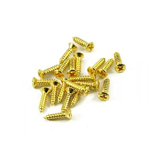 "NEW 20 - GOLD #4 x 1//2/"" Phillips Pickguard Screws"