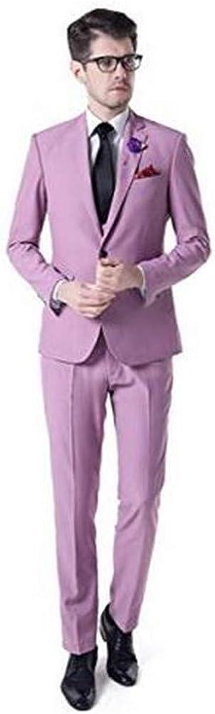Slim Fit Casual Men Suit 3 PCs(Jacket+Pants+Vest) Notch Lapel Blazer Wedding Grooms Tuxedo