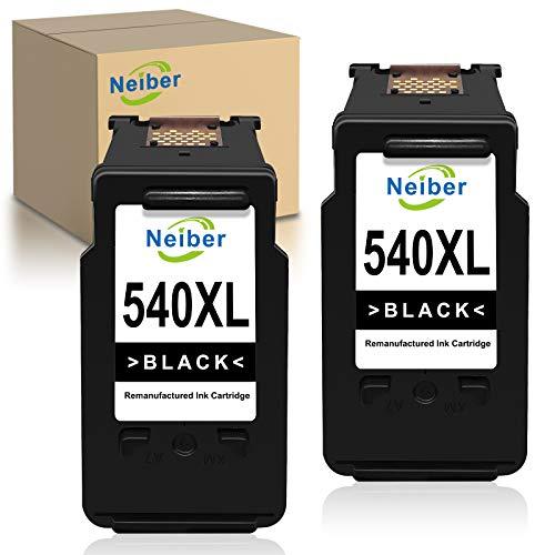 Neiber 540XL Cartuchos de Tinta Compatible para Canon PG540XL para Canon Pixma TS5150 TS5151 MG4250 MG3650 MX475 MX535 MG4200 MG3550 MX395 MG3600 MX375(2xNegro)