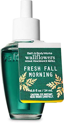White Barn Candle Company Bath and Body Works Wall Flowers Home Fragrance Refill .8 fl oz - Fresh Fall Morning (Citrus Zest, Woodland Sage, Red Delicious Apples with Essential Oils)