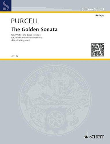 The Golden Sonata: for voice and ensemble. 2 Violinen und Basso continuo (Cembalo, Klavier, Orgel); Violoncello (Viola da gamba) ad libitum. Partitur und Stimmen. (Antiqua)
