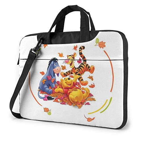 Hdadwy Winnie The Pooh Laptop Bags Laptop Protective Cases Hand held One Shoulder Shockproof Oxford Laptop Protective Case/Tablet PC Briefcase Compatible Bag 13inch