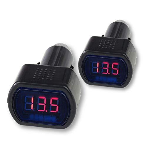 Zeltauto LED Digital Car Voltmeter 12V/24V Vehicle Voltage Gauge Monitor for Auto Car Truck (2)