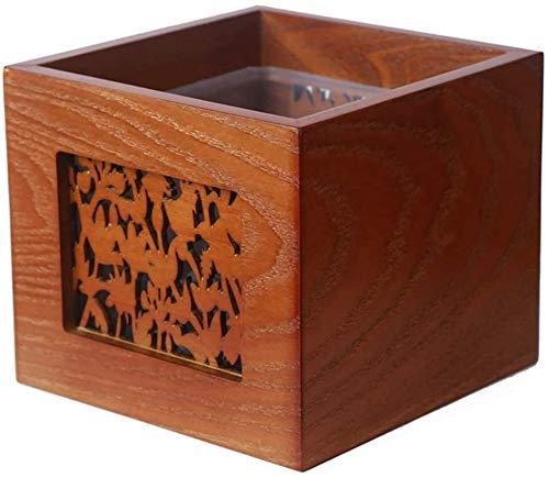 Gewöhnlicher hölzerner Mini-Büro Mülleimer ohne Abdeckung kleinen Wohnzimmer Couchtisch Kommode Lagerung Karton-Recycling,Brown