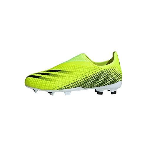 adidas X Ghosted.3 Ll FG J Fußballschuhe Unisex Kinder, Mehrfarbig - Mehrfarbig (Amasol Negbas Azura) - Größe: 35 EU