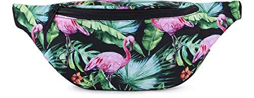 Ladeheid Damen Gürteltasche LABG01 (Rosa Flamingos-11)
