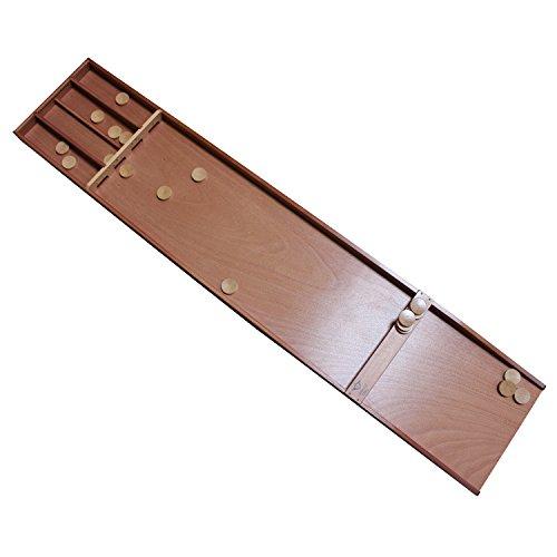 Shuffleboard SJOELBAK Buche 200cm mit Steinen Holland Billard, Familienspiel, Partyspiel