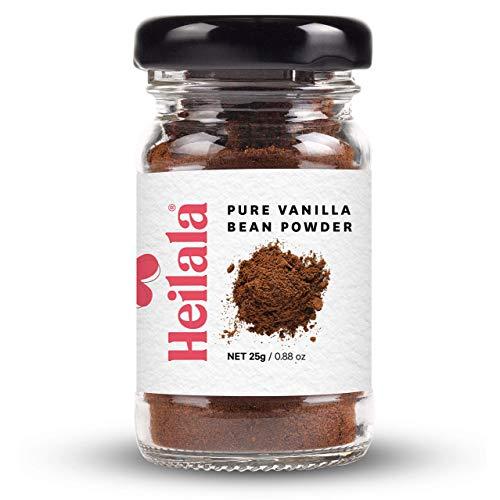 HEILALA - terra baccello di vaniglia in polvere - baccelli terra gourmet cresciuto in Tonga, raccolte a mano, Senza alcol, zucchero, 25g (Pure Vanilla Bean Powder)