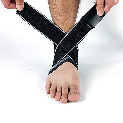Y-fodoro Knöchelstützsocken 1 Paar, atmungsaktive elastische Knöchelfußstütze, Kompressionssocke, Badminton Basketball Fußball