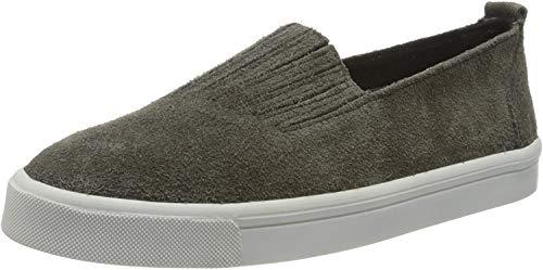 Minnetonka Women's Gabi Slip On Shoes Round Toe (8.5 B(M) US, Grey)