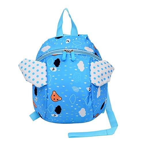 Kleine kinderrugzak met veiligheidsgordel kleine bijen voor kinderen baby handtaschgordel rugzakdrager anti-verlies kinderveiligheid rugzak blauw