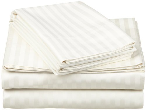 SUPERIOR Impressions by Luxor Treasures 100% Egyptian Cotton 650 Thread Count Sheet Set, Ivory, Full, 4-Piece