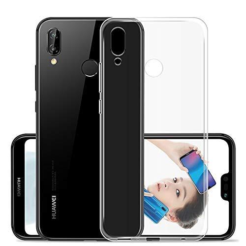 NEW'C Cover Compatibile con Huawei P20 Lite, Custodia Gel Trasparente Morbida Silicone Sottile TPU [Ultra Leggera e Chiaro]