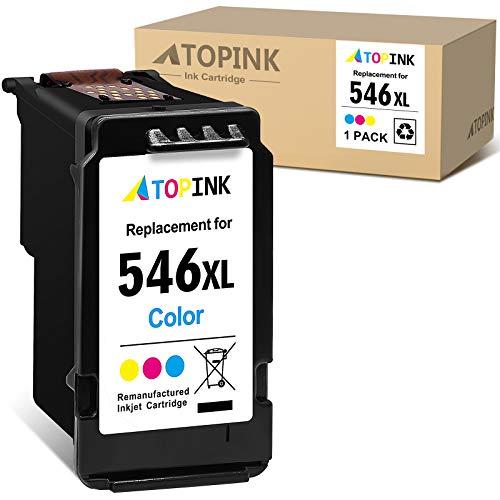 ATOPINK Cartucho de tinta remanufacturado para Canon CL546XL 546XL para Canon Pixma TS3150 3151 205 305 MG2555S 3050 2550 2550S MX495 TR4550 Ip2850 (1 color)