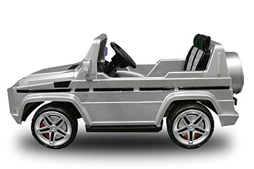 RC Auto kaufen Kinderauto Bild 3: Lizenz Kinderauto Mercedes - Benz G55 AMG 2x 35W Motor MP3 RC SUV Jeep Elektroauto Kinderfahrzeug Ferngesteuert Elektro Auto (Schwarz)*
