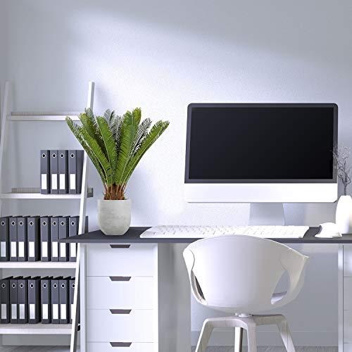 hjh OFFICE Kunstpflanze Cycas Palme Höhe 70 cm Grün 24 Palmwedel Kunstpalme klein Cycaspalme Palmfarn künstlich, 871004 - 3