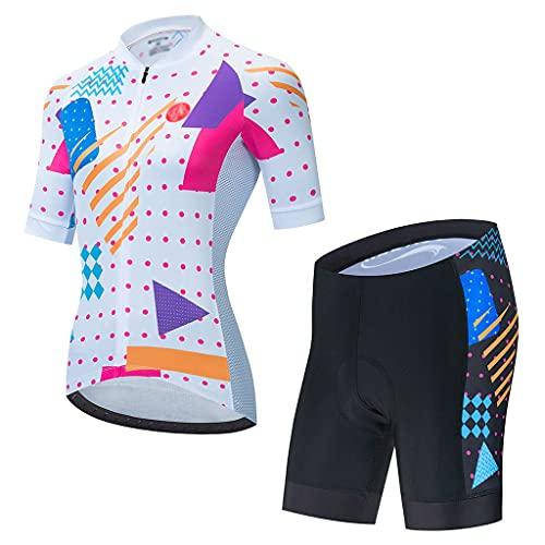 ZAYZ Conjuntos de Maillot de Ciclismo para Mujer Culotte con Tirantes para...