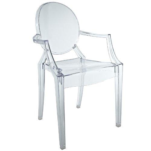 Modway Miniature Casper Novelty Chair in Clear