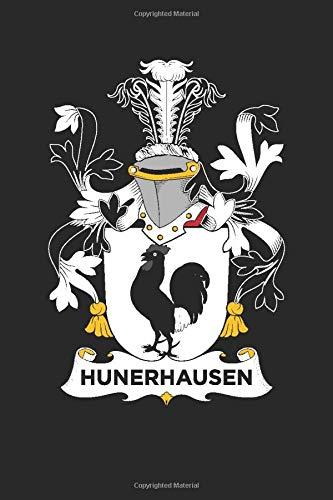 Hunerhausen: Hunerhausen Coat of Arms and Family Crest Notebook Journal (6 x 9 - 100 pages)