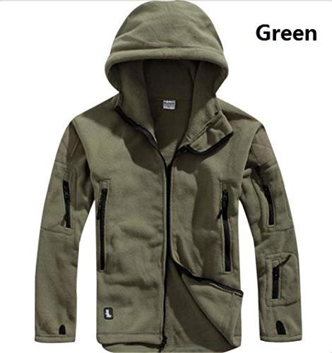 LSJSN Heren jassen Fleece Tactische Jas Mannen Thermische Outdoor Polartec Warm Hooded Jas Militar Softshell Wandelen Bovenkleding Leger Jassen