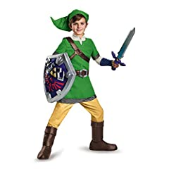 Dress up as your favorite video game character Legend of Zelda (Nintendo); Officially Licensed Nintendo product Includes: Tunic with attached chest belt, belt with attached pouch, pair of boot covers and hat Tunic: 100% Polyester, Belt And Straps: 10...