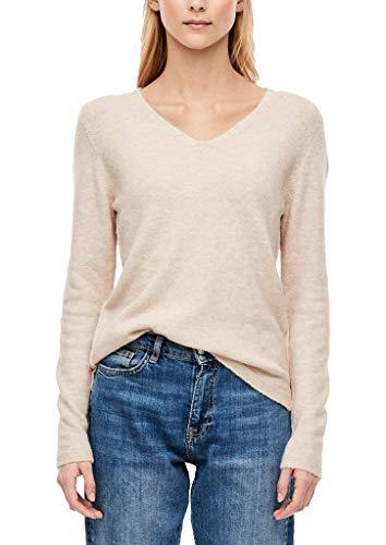 Preisvergleich Produktbild s.Oliver Damen 14.911.61.5335 Pullover,  Beige (Wool White Melange 81w1),  (Herstellergröße: 38)