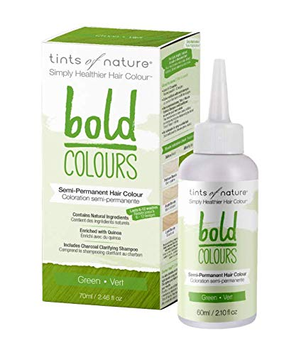 Tints of Nature Bold Green, Vegan Semi Permanent Natural Hair Dye, Ammonia, PPD, Parabens, Silicone and Sulfates Free, Single